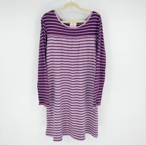 Hanna Andersson Purple Stripe Playdress Dress